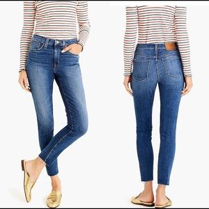 "JCrew 9"" High-Rise Toothpick Blue Jeans size 29T"